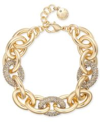 Image of Charter Club Gold-Tone Pavé Link Bracelet, Created for Macy's