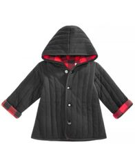 Image of First Impressions Baby Boys Buffalo Plaid Reversible Cotton Jacket, Created for Macy's