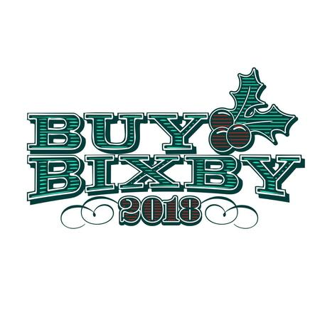 A logo for Buy Bixby 2018
