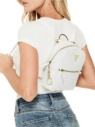 white convertible mini backpack guess factory