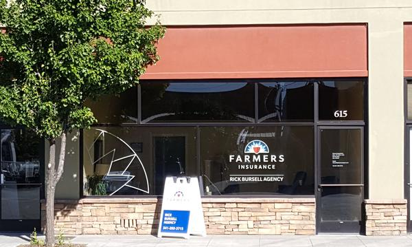 The exterior of the Farmers Agency office