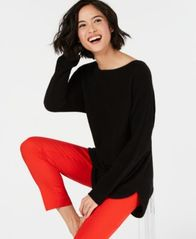 Image of Charter Club Pure Cashmere Pullover Shirttail Sweater in Regular & Petite Sizes, Created for Macy's