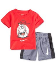 Image of Nike 2-Pc. Baseball Graphic-Print T-Shirt & Shorts Set, Little Boys