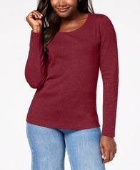 Image of Karen Scott Cotton Scoop-Neck Top, Created for Macy's