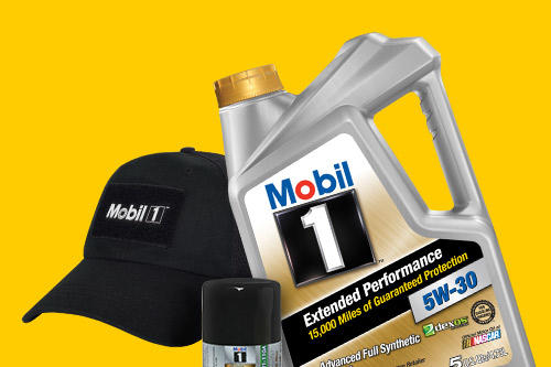 With purchase of 5 quarts of Mobil 1