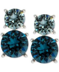 Image of Anne Klein Swarovski Crystal Drop Clip-on Earrings