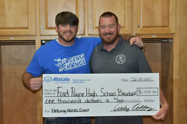 Cody Coffey - Support for Fort Payne High School Baseball