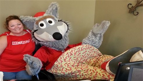 KC Wolf stopped by our office!