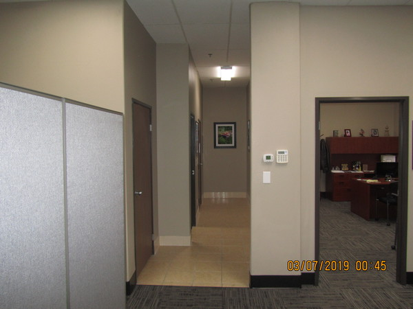 hallway and open office door