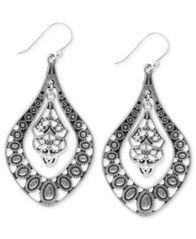 Image of Lucky Brand Earrings, Filigree Oblong Earrings