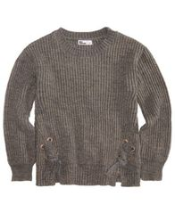 Image of Epic Threads Big Girls Lace-Up Sweater, Created for Macy's