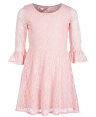 Image of Epic Threads Big Girls Lace Bell Sleeve Drop Waist Dress, Created for Macy's