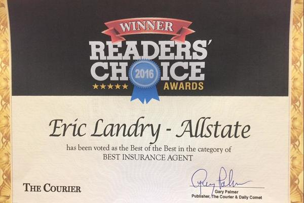 Eric Landry - Voted Best Insurance Agent of Terrebonne Parish