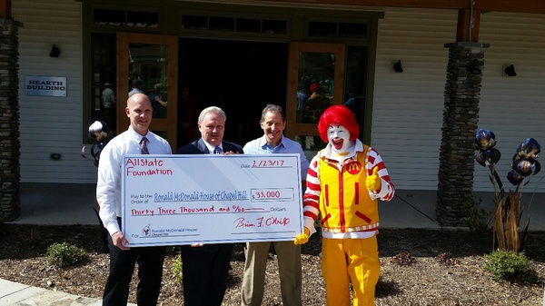 Gary Filippi - Allstate Foundation Helping Hands Grant for Ronald McDonald House
