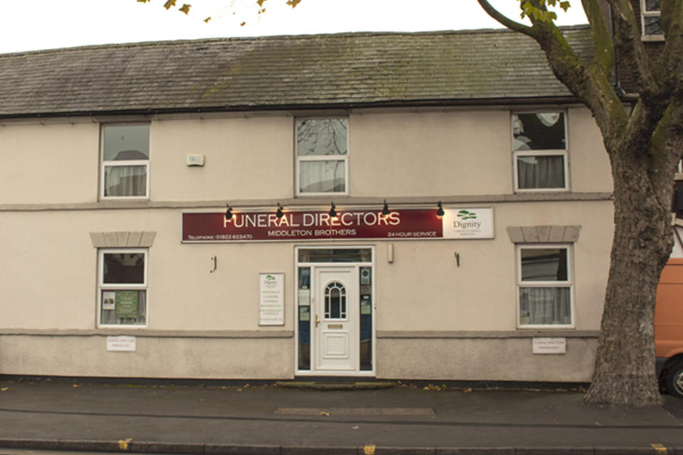 Middleton Brothers Funeral Directors in 187/189 Stafford Street, Walsall