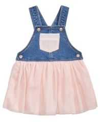 Image of First Impressions Denim & Mesh Jumper, Baby Girls, Created for Macy's