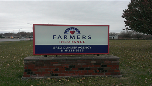 Our second location in Raymore received their new sign!