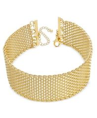 Image of INC International Concepts Wide Mesh Choker Necklace, Created for Macy's
