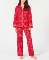 Image of Charter Club Cotton Printed Flannel Pajama Set, Created for Macy's