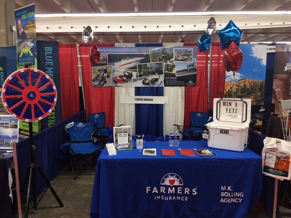 Farmers promotional booth.