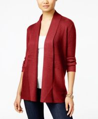 Image of JM Collection Ribbed Open-Front Cardigan, Created for Macy's