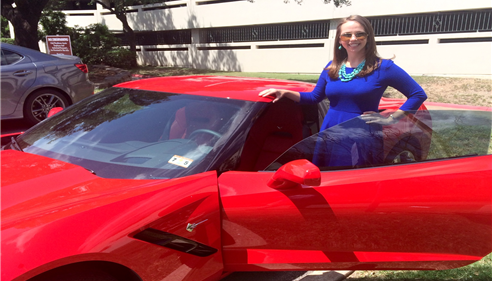 Fun times driving my District Manager's Corvette around Austin, TX.