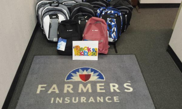 Our Agency collected and delivered backpacks to our local elementary schools.