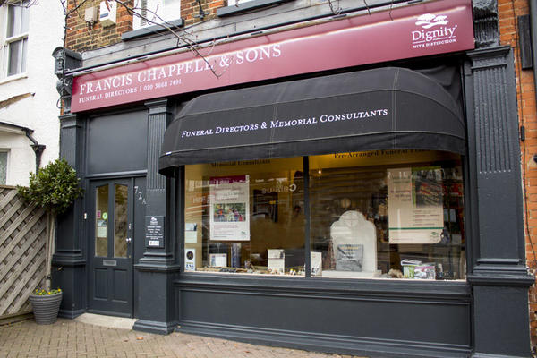 Francis Chappell & Sons Funeral Directors in Chislehurst, Bromley.