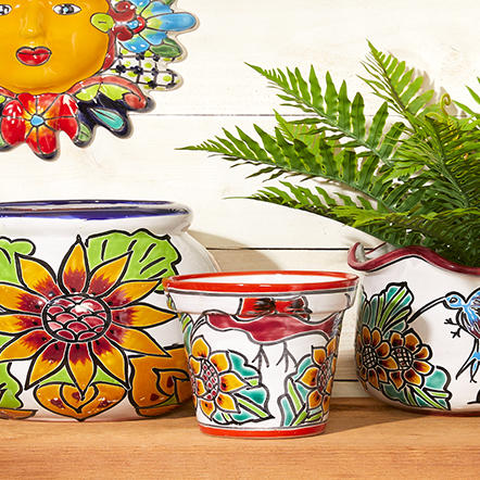 Planters & Gardening. Bring the outdoors in or makeover your garden with an incredible selection of indoor and outdoor planters as well as other essentials. From handcrafted international pottery like Talavera from Mexico to fun and festive finds, you're sure to find something to bring a little sunshine to each season.