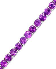 Image of Amethyst Sterling Silver Bracelet (20 ct. t.w.) (Also Available in Blue Topaz, Garnet and Multi-Ston