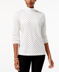 Image of Karen Scott Printed Mock Turtleneck Top, Created for Macy's