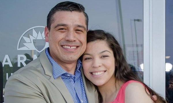 Porfirio Hernandez & his daughter Hope