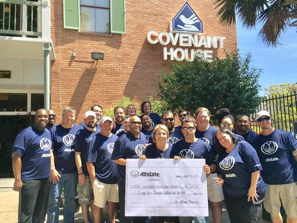 Steven James - Allstate Foundation Grant for Covenant House New Orleans