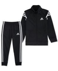 Image of adidas Little Boys 2-Pc. Front-Zip Jacket & Jogger Pants Set