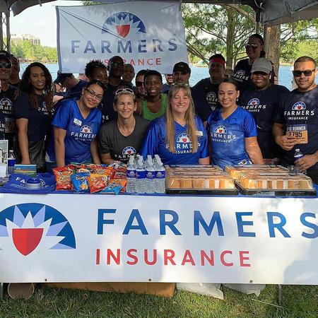 Felder Agency & Farmers Insurance booth at the IAO Corp 5k
