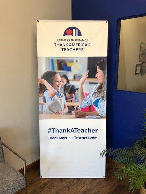 thank a teacher logo.