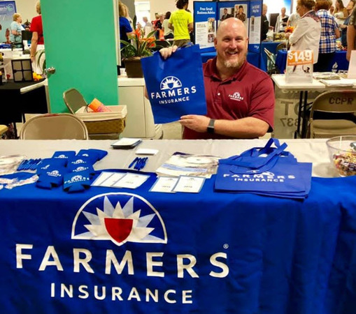 Farmers Agent Chris Pinckney at the Citrus Business Expo.