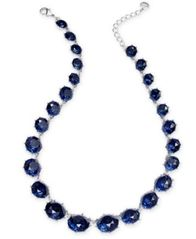"Image of Charter Club Silver-Tone Stone Collar Necklace, 17"" + 2"" extender, Created for Macy's"