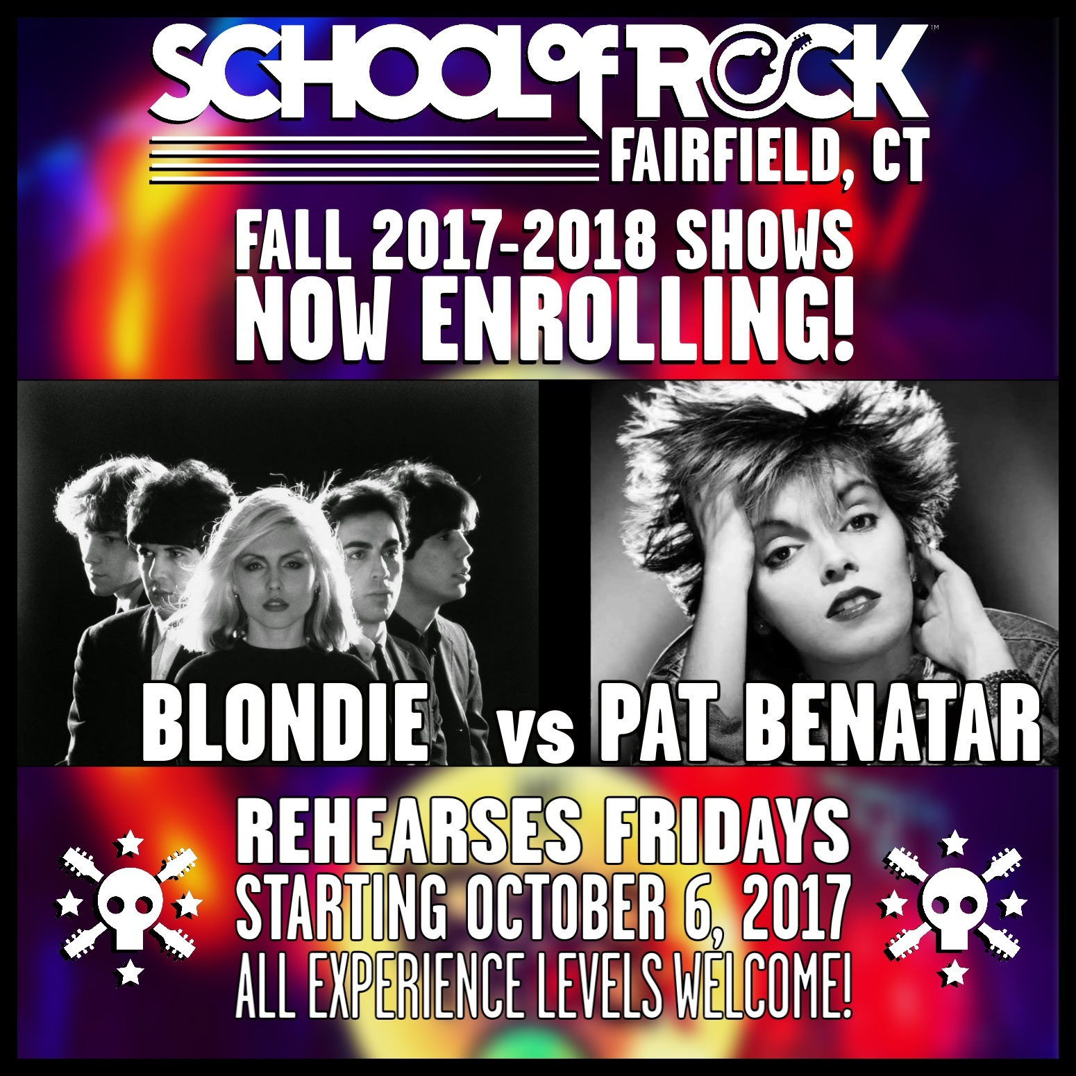 Image of FALL 2017-2018 SHOW #4: BLONDIE vs PAT BENATAR