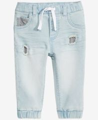 Image of First Impressions Denim Jogger Pants, Baby Boys, Created for Macy's