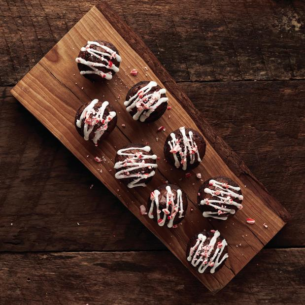 Image of Candy Cane Brownie Bites