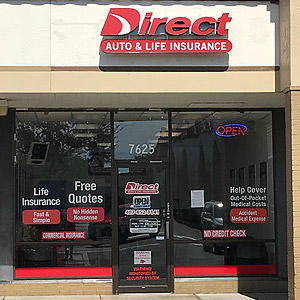 Front of Direct Auto store at 7625 South Orange Blossom Trail, Orlando