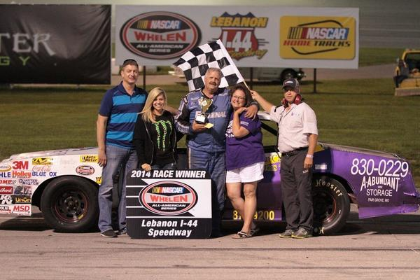 Me and my wife Pam in the Winners Circle 2014.