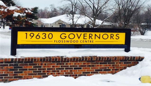 Follow the bright new office park sign at 19630 Flossmoor Centre!