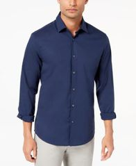 Image of Alfani Men's STRETCH Modern Solid Shirt, Created for Macy's