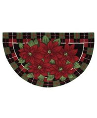 "Image of CLOSEOUT! Nourison Rugs, Holiday Poinsettia ""40x24"" Slice"