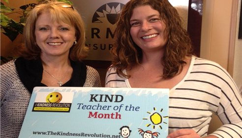 October's Kind Teacher of the Month-Erin Wood Nimetz.