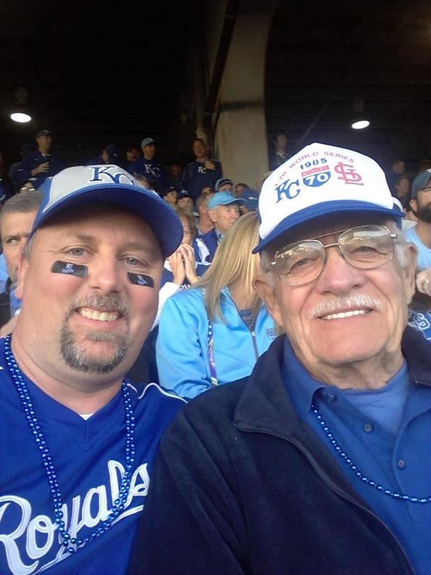 My Dad and I at the World Series