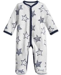 Image of First Impressions 1-Pc. Star-Print Footed Coverall, Baby Boys (0-24 months), Created for Macy's