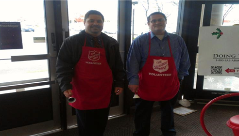 Ringing the bell for the Salvation Army was a great time!